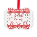 chritmas deer gifts red white Ornament