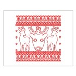 chritmas deer gifts red white Posters