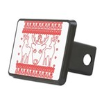 chritmas deer gifts red white Hitch Cover