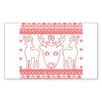 chritmas deer gifts red white Sticker