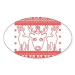 chritmas deer gifts red white Sticker