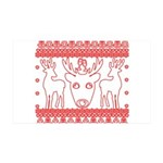 chritmas deer gifts red white Wall Decal