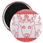 chritmas deer gifts red white Magnets