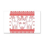 chritmas deer gifts red white Rectangle Car Magnet
