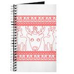 chritmas deer gifts red white Journal