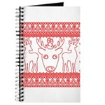 chritmas deer gifts red white Journal