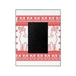 chritmas deer gifts red white Picture Frame