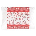 chritmas deer gifts red white Pillow Case
