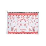 chritmas deer gifts red white Makeup Bag