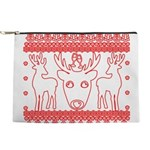 chritmas deer gifts red white Makeup Bag