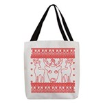 chritmas deer gifts red white Polyester Tote Bag