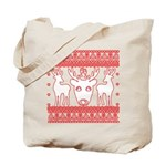 chritmas deer gifts red white Tote Bag