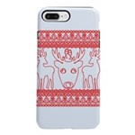 chritmas deer gifts red white iPhone 8/7 Plus Toug