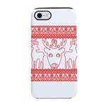 chritmas deer gifts red white iPhone 8/7 Tough Cas