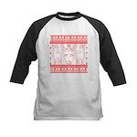 chritmas deer gifts red white Baseball Jersey