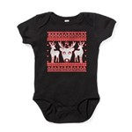 chritmas deer gifts red white Body Suit
