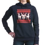 chritmas deer gifts red white Sweatshirt