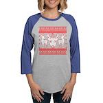 chritmas deer gifts red white Long Sleeve T-Shirt
