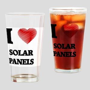 I Love Solar Panels Drinking Glass