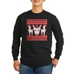 chritmas deer gifts red white Long Sleeve T-Shirt
