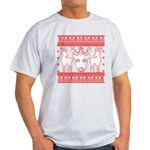 chritmas deer gifts red white T-Shirt