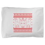 chritmas deer gifts red white Pillow Sham