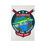 USS Clarion River (LSMR 409) Rectangle Magnet (10