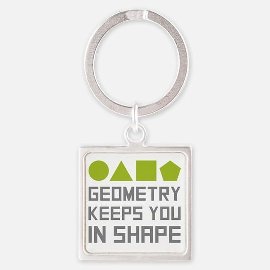 Funny Math teacher Square Keychain