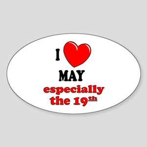 May 19th Oval Sticker