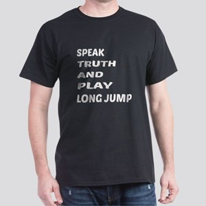 Speak Truth And Play Long Jump Dark T-Shirt
