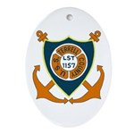 USS Terrell County (LST 1157) Oval Ornament