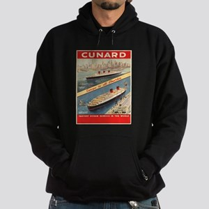 Vintage poster - Cunard Hoodie (dark)