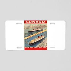 Vintage poster - Cunard Aluminum License Plate