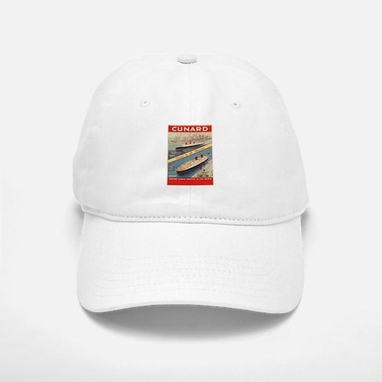 Vintage poster - Cunard Baseball Baseball Cap