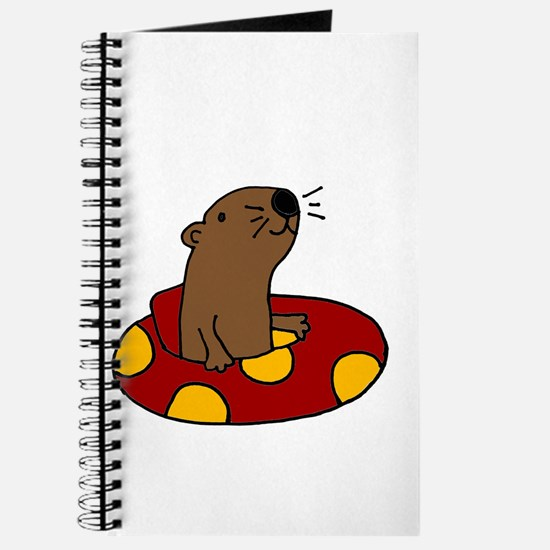Cute Funny Tubing Otter Journal
