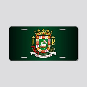 Puerto Rico COA Aluminum License Plate