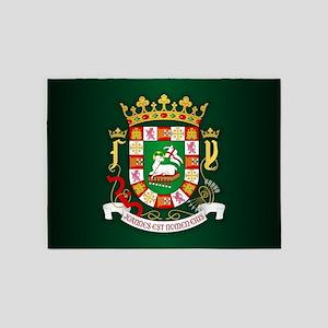 Puerto Rico COA 5'x7'Area Rug