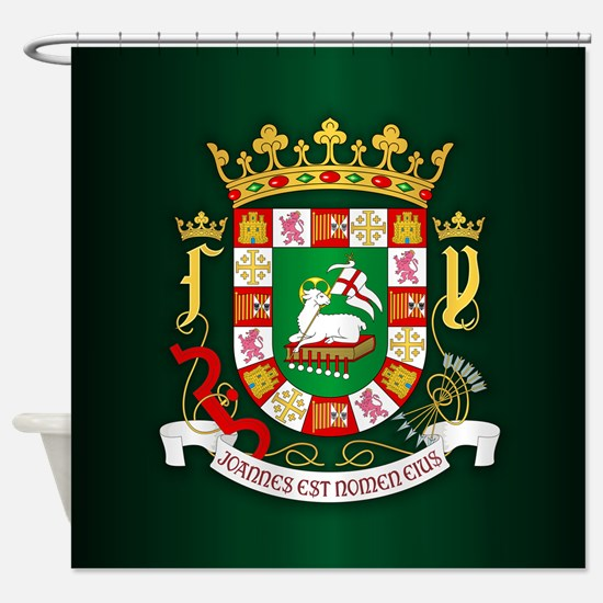 Puerto Rico COA Shower Curtain