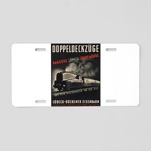 Vintage picture - Doppeldec Aluminum License Plate