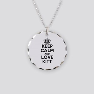 Keep Calm and Love KITT Necklace Circle Charm
