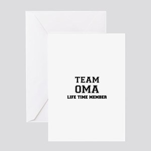 Team OMA, life time member Greeting Cards