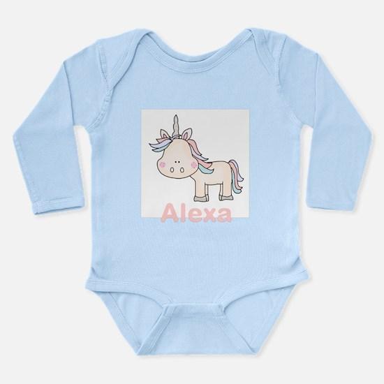 Alexa's Little Unicorn Long Sleeve Infant Bodysuit