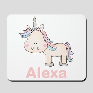 Alexa's Little Unicorn Mousepad