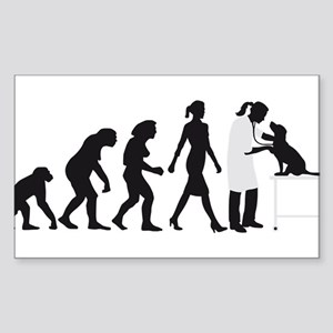 evolution of man female veterinarian Sticker