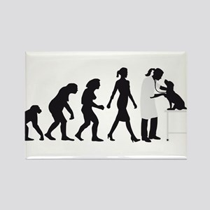 evolution of man female veterinarian Magnets