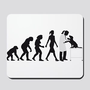 evolution of man female veterinarian Mousepad