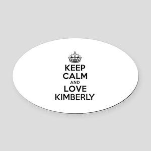 Keep Calm and Love KIMBERLY Oval Car Magnet