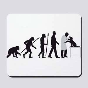 evolution of man veterinarian Mousepad