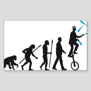 evolution of man juggler Sticker