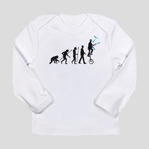 evolution of man juggler Long Sleeve T-Shirt